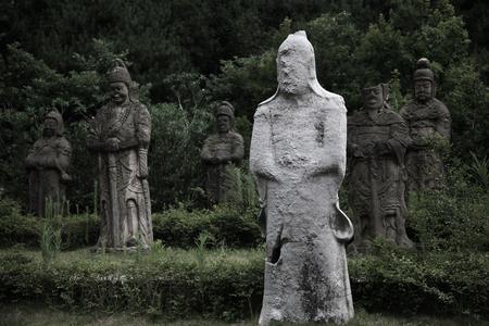 human likeness: Human likeness statues in the park