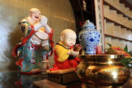 maitreya: Maitreya statues on the altar