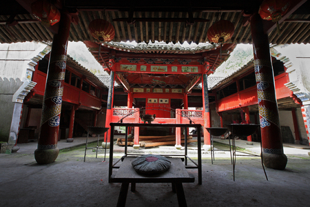 chinese opera: View of an old stage for Chinese opera Editorial
