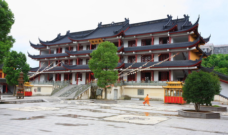 sutra: The building of Sutra library in temple Editorial