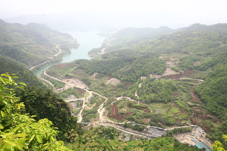 rural development: Aerial view of scenic area of Xikou