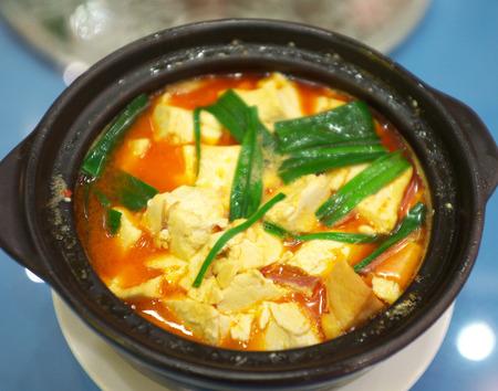 beancurd: Spicy beancurd soup