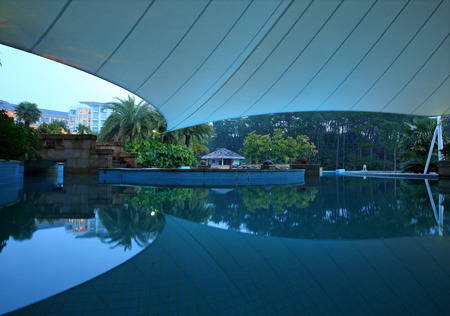 intercontinental: Hotel swimming pool Editorial