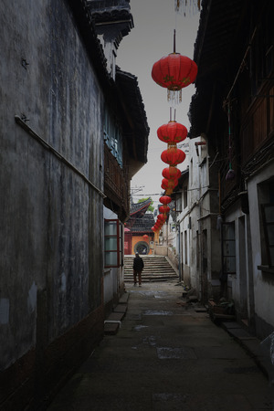 back alley: Back alley of traditional houses