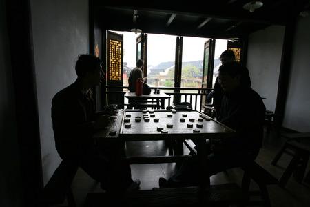 jugando ajedrez: Aldeanos jugando al ajedrez