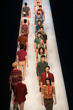 fashion runway: Models walking down the fashion runway