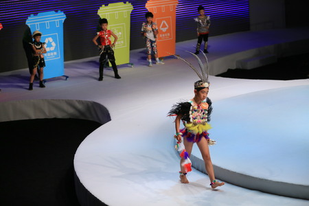 stage props: Children on stage at a fashion show Editorial