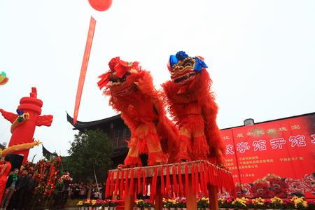 lion dance: Lion dance performance