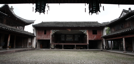 chinese courtyard: Courtyard inside a chinese building