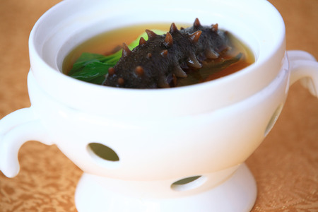 sea cucumber: Sea cucumber soup