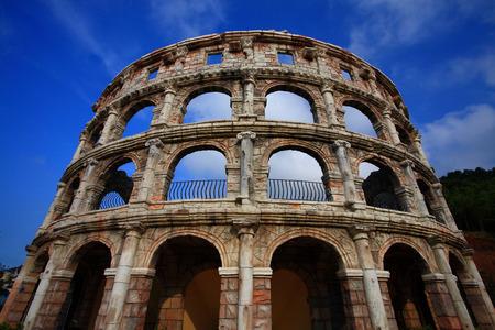 replica: Replica of the Colosseum in amusement park
