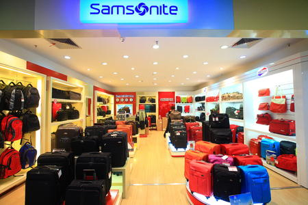 store: View of a luggage store in the department store