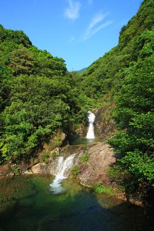 cascade: Cascade in mountain Stock Photo