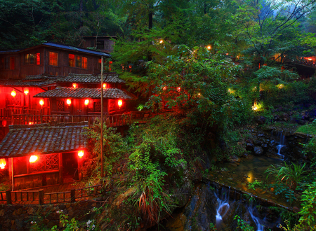 accommodation: Resort accommodation in the forest Editorial