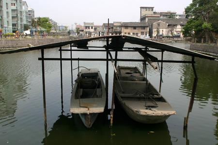 sheltered: Sheltered parking for boats