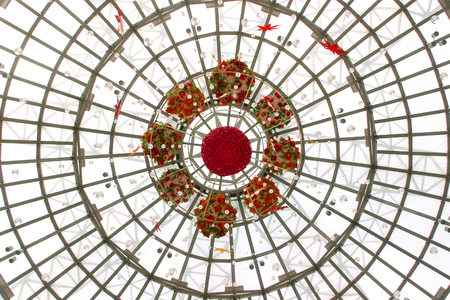 glass ceiling: Glass ceiling decorations Stock Photo