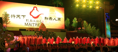 monks: Monks gathering on stage