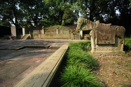 local landmark: Horse statue at the graveyard in Baiyunzhuang