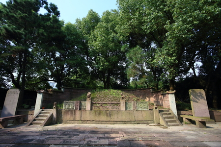 local landmark: View of grave in the Baiyunzhuang