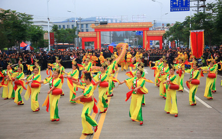 moving images: A traditional cultural dance on the streets