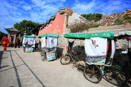 trishaw: Trishaw by the street