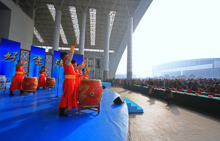 chinese drum: Drum performance Editorial