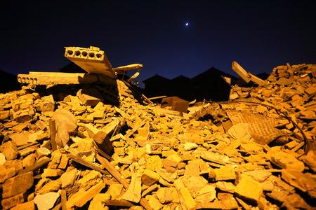industrial wasteland: Building rumbles in Choubi village
