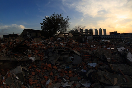 dystopia: Building rumbles in Choubi village