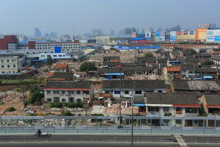 urban redevelopment: A village going through urbanization