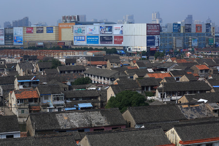 urbanization: A village going through urbanization