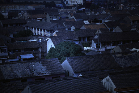 top: View of roof top houses Editorial