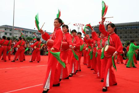 chinese drum: Chinese drum performance