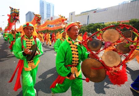joyous festivals: Dragon dance parade