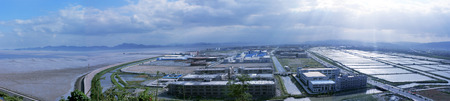 sectioned: Panoramic view of the industrial area