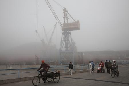 shipyard: Cranes at a shipyard