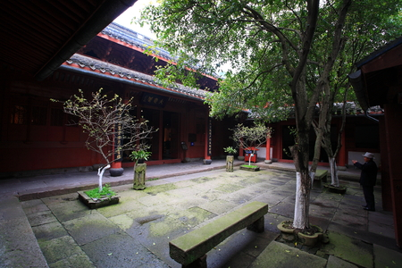 chinese courtyard: Baoguo temple courtyard Editorial