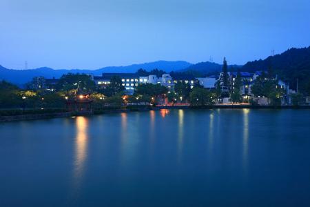 night school: View of Chihu high school at night Editorial