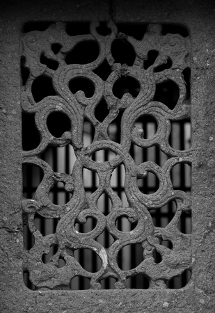 carved stone: Carved stone window