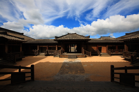 chinese courtyard: An empty traditional Chinese courtyard Editorial