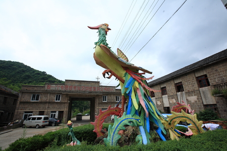 local landmark: A Chinese phoenix sculpture in Yinzhou Soochow Editorial