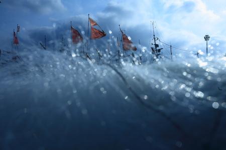 redes de pesca: Cierre de vista de las redes de pesca Foto de archivo