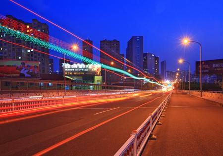 night scenery: Night scenery in Yinzhou district