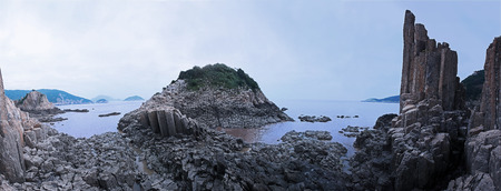boulders: Rocks and boulders by the sea Stock Photo