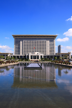 government building: Front view of Yinzhou district government building Editorial