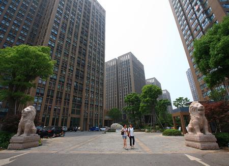 no1: Women walking in Yinzhou Huamao institutions NO.1