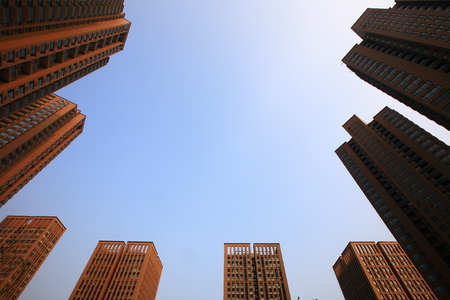 institutions: Low angle view of buildings in Yinzhou Huamao institutions NO.1