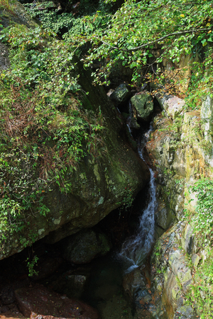 water stream: View of the water stream from on top Stock Photo