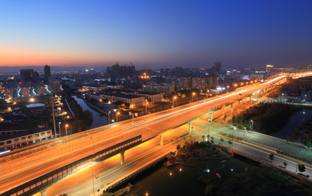 highway interchange: Huancheng south road and highway interchange for jichanglu Stock Photo