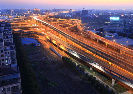 metropolis image: Huancheng south road and the highway interchange for Jichanglu Editorial