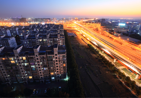 highway interchange: Huancheng south road and the highway interchange for Jichanglu Editorial